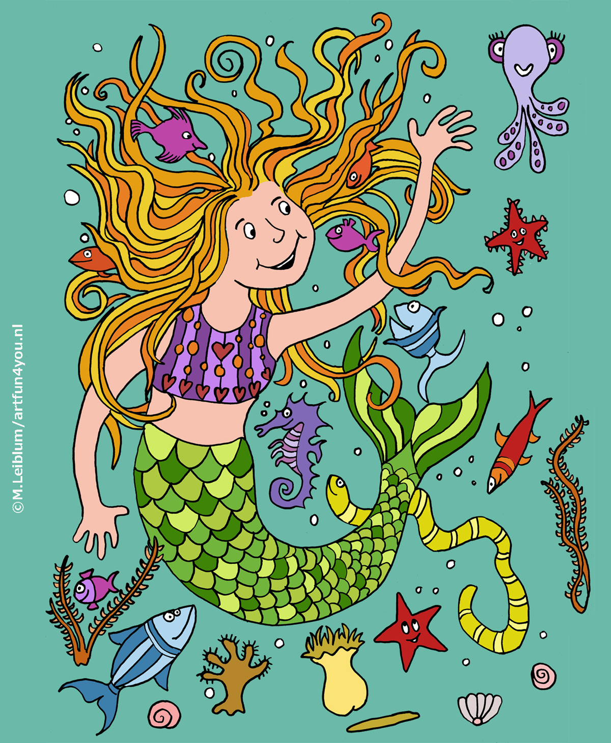 Zeemeermin, mermaid