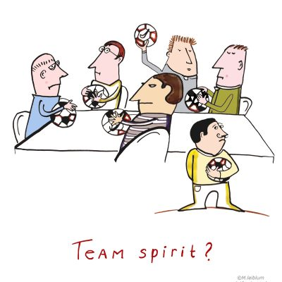 Sneltekening thema teamgevoel